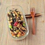 コンビニサラダ風。お豆とひじきの健康サラダ