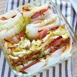 並べて焼くだけ。白菜とベーコンのオーブン焼き