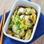 レンジで簡単。白菜の即席漬け