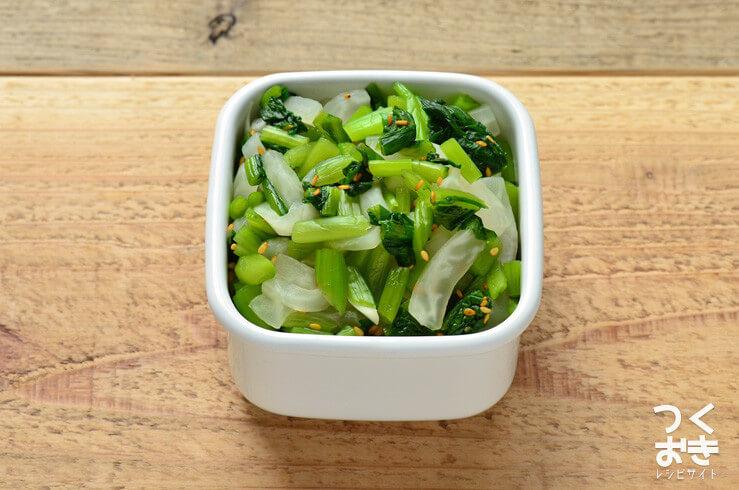 野沢菜漬けと大根の和え物の常備菜・作り置きレシピ