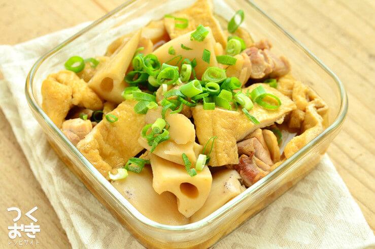 レンコンと油揚げの煮物の作り置き・常備菜レシピ