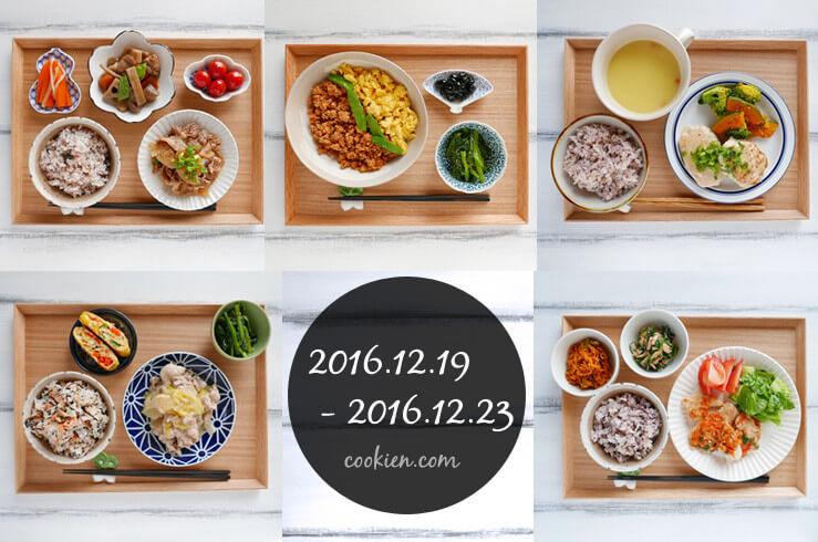 作り置きおかず・常備菜を使った献立(20161219-1223)