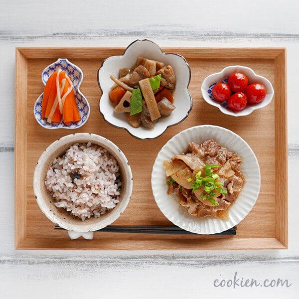 作り置きおかず・常備菜を使った献立(20161219)