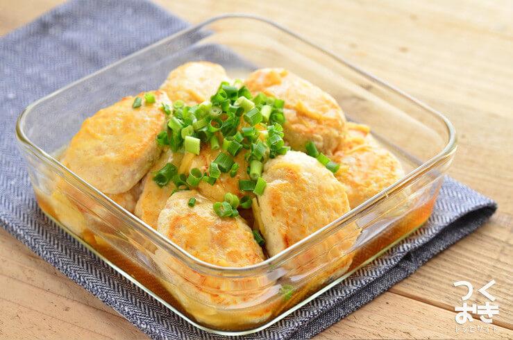 豆腐と鶏肉の和風ヘルシーハンバーグの常備菜・作り置きレシピ