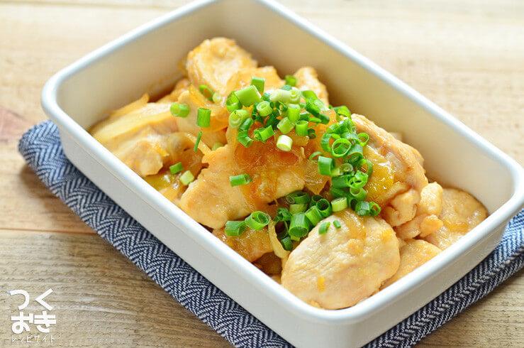 鶏むね肉のはちみつしょうが焼きの常備菜・作り置きレシピ