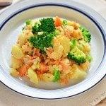 ほぐし鮭とブロッコリーのポテトサラダのレシピ