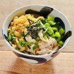 ほぐし蒸し鶏と野沢菜の出汁茶漬けのレシピ