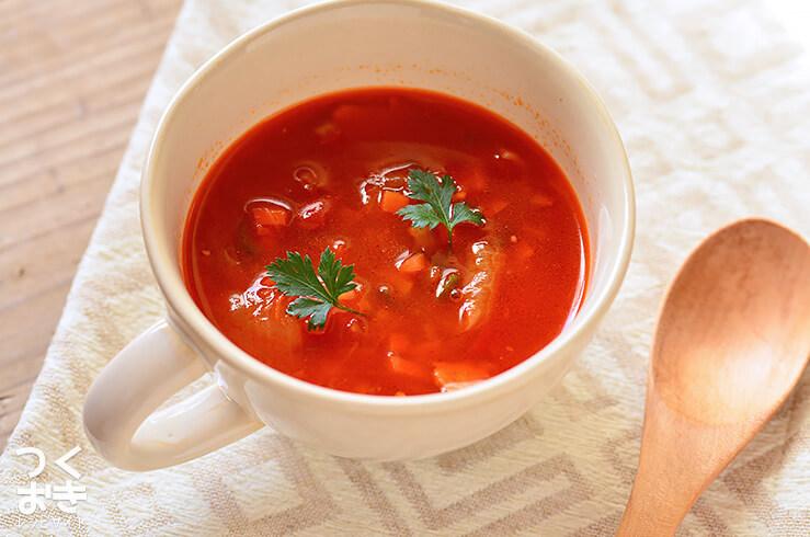 簡単トマトスープのレシピ
