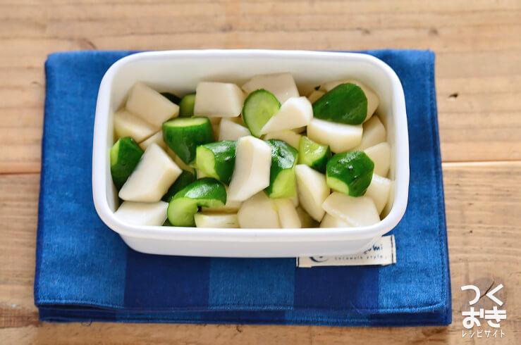 かぶときゅうりの塩漬け(浅漬け)の常備菜・作り置きレシピ