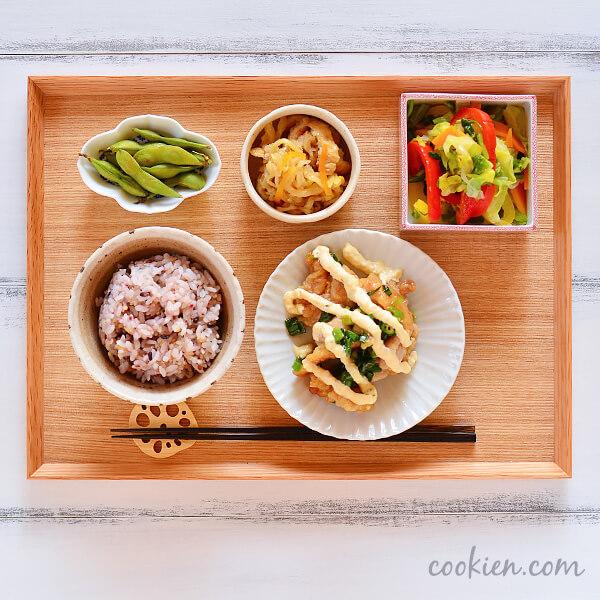 作り置きおかず・常備菜を使った献立(20170414)