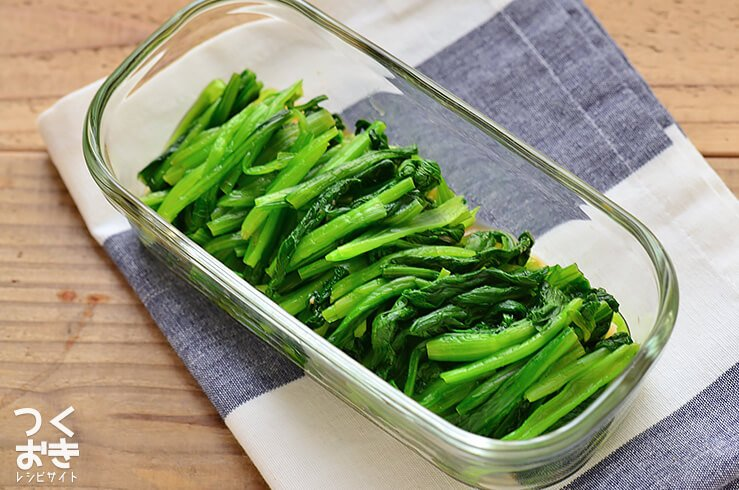 小松菜のわさび風味おひたしの常備菜・作り置きレシピ