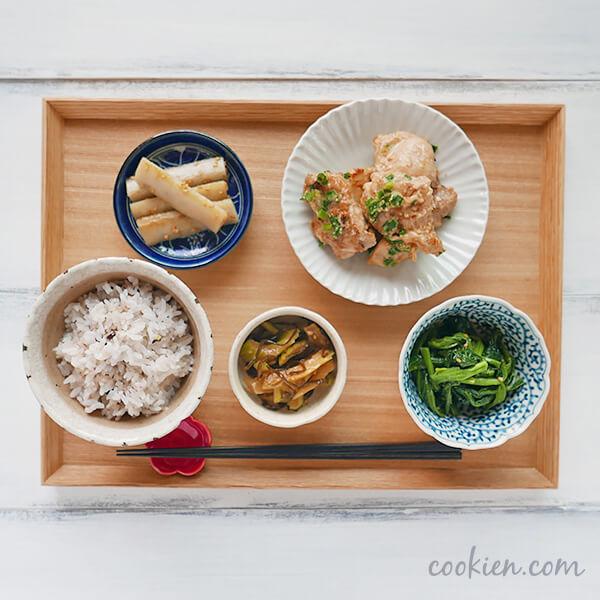 作り置きおかず・常備菜を使った献立(20170519)