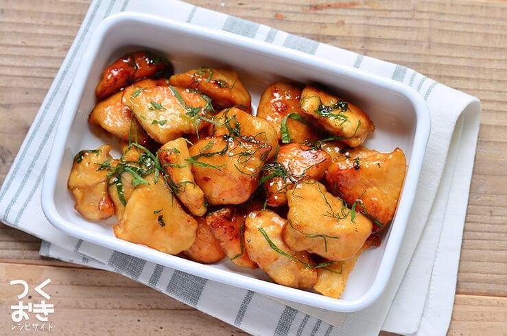 鶏むね肉の揚げしそ照り焼きの料理写真