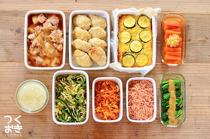 週末まとめて作り置き・常備菜(20170701)