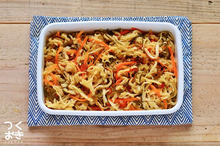 切り干し大根のはりはり漬けの常備菜・作り置きレシピ