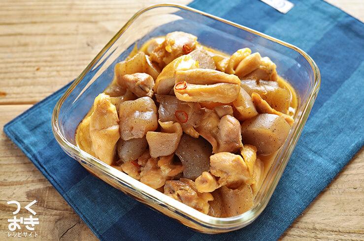 鶏肉とこんにゃくの炒り煮の常備菜・作り置きレシピ