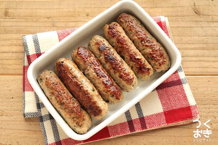 豚肉の手作りソーセージ風の料理写真