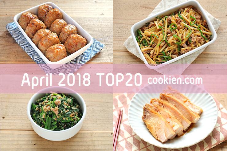 2018年4月の人気作り置き・常備菜のレシピ