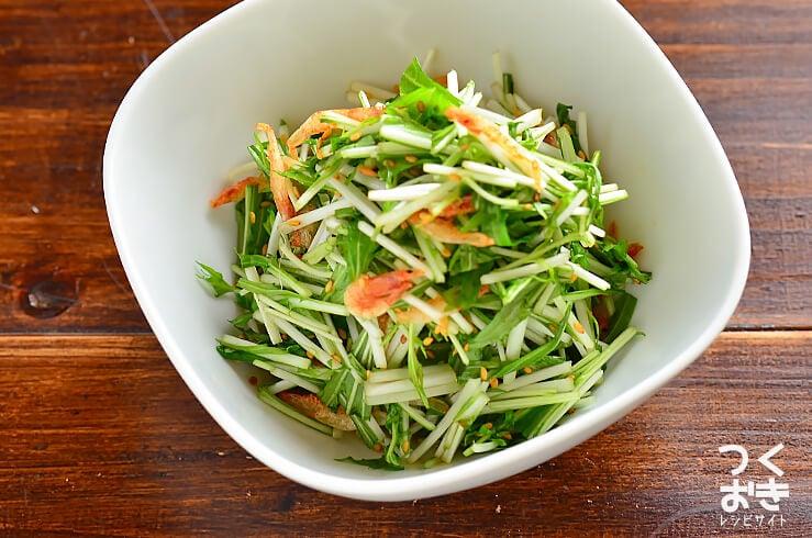 水菜と桜えびのポン酢サラダの料理写真