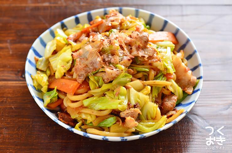 野菜たっぷり焼きうどんの料理写真
