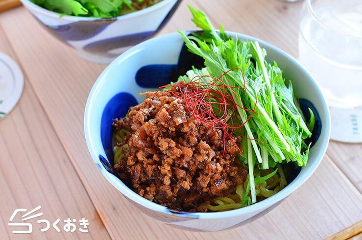 肉みそ汁なし麺の料理写真