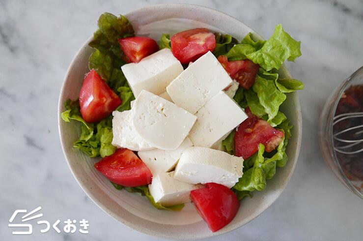 ひじきと豆腐の梅おかかサラダの手順写真その2
