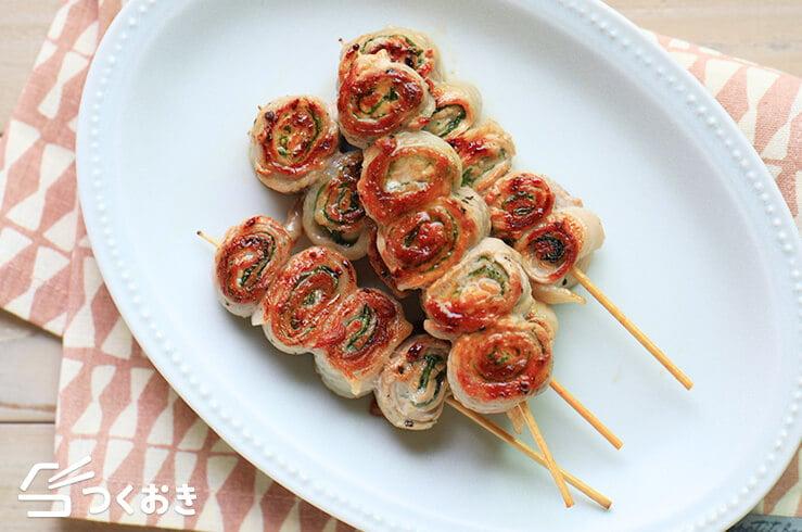 豚肉と大葉のくるくる巻きの料理写真