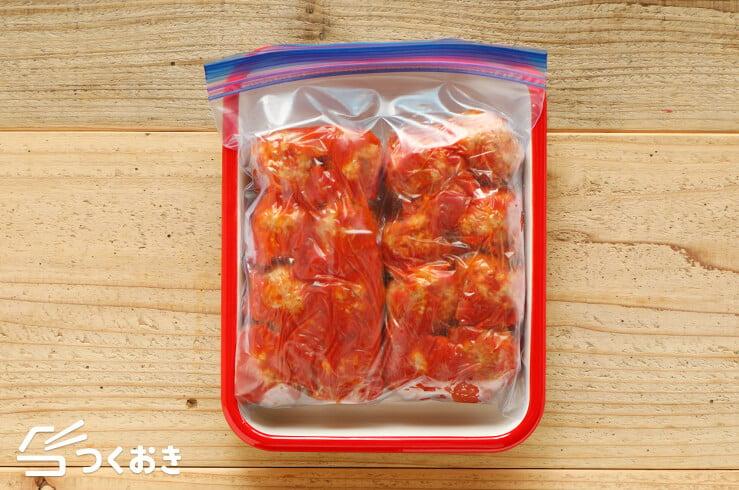 ミートボールのトマト煮の冷凍保存写真