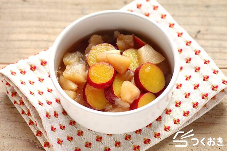 りんごとさつまいもの甘煮の料理写真
