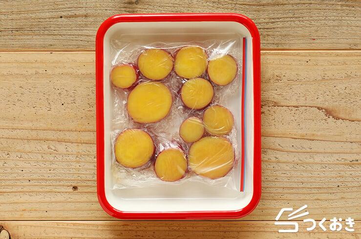 さつまいものレモン煮の冷凍保存その2