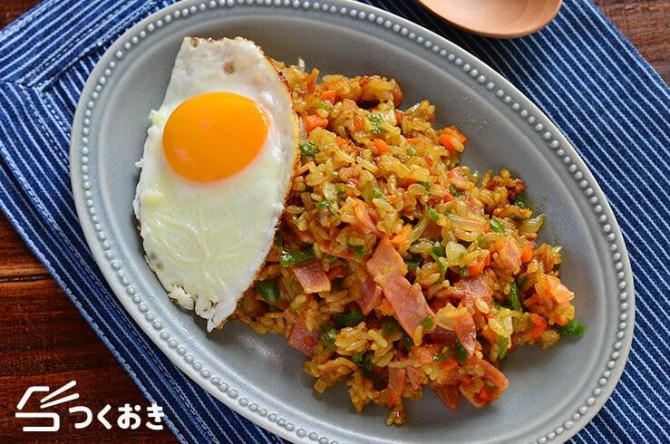カレー炒めご飯の料理写真