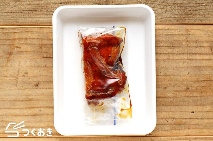 黒酢照り焼きチキンの冷凍写真
