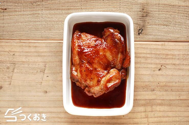 黒酢照り焼きチキンの料理写真その4