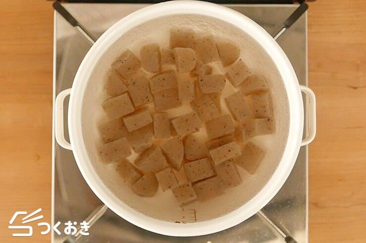 お豆と根菜の煮物の手順写真その3