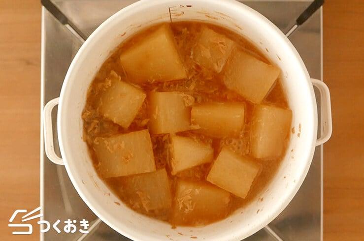 ツナと大根の煮物の手順写真その3