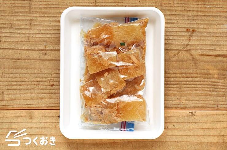 ツナと大根の煮物の冷凍写真