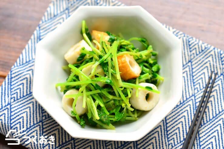 豆苗とちくわのごま酢和えの料理写真