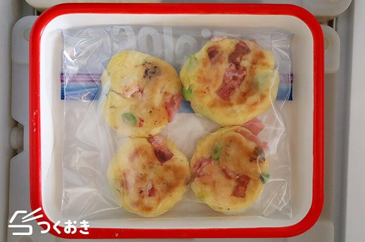 枝豆ベーコンのじゃがいももちの冷凍写真