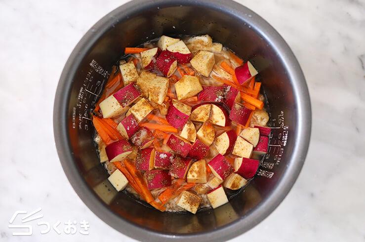 さつまいもの炊き込みご飯の手順写真その1