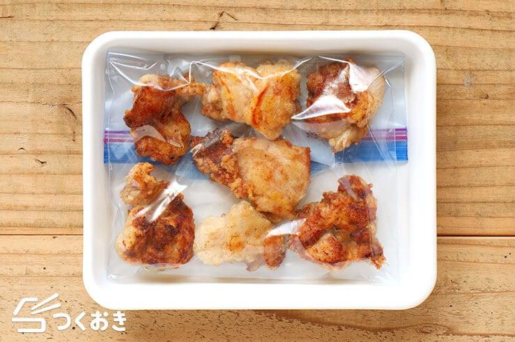 塩レモンから揚げの冷凍写真