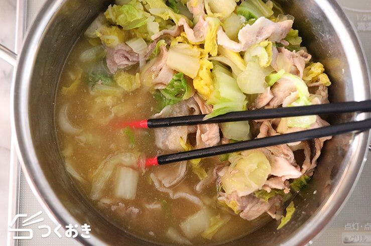 豚バラ白菜のしょうがあんの手順写真その2