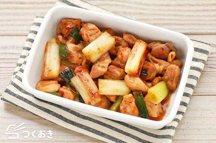 鶏肉と長ねぎの甘辛炒めの料理写真