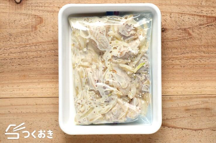 チキンの粒マスタードクリーム煮の冷凍写真