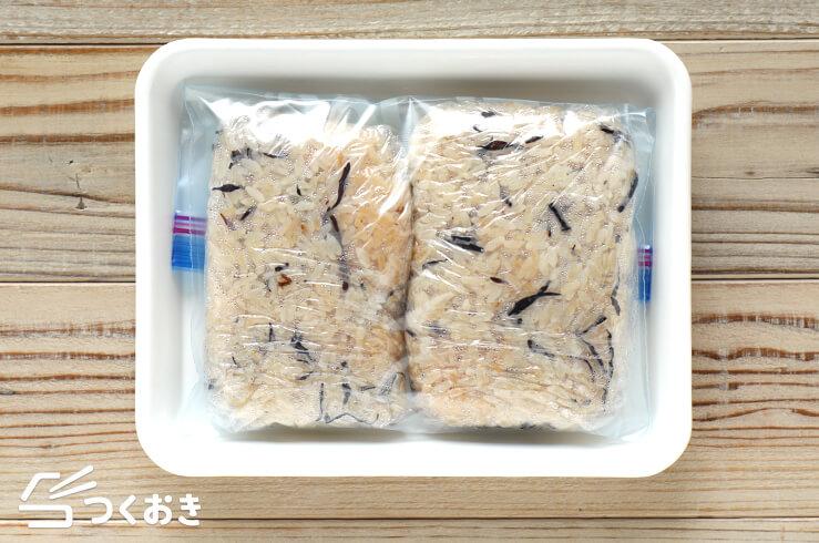 ほんのり味付きひじきご飯の冷凍写真