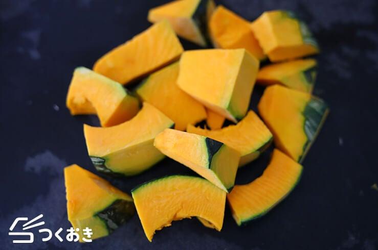 かぼちゃの和風サラダの手順写真その1