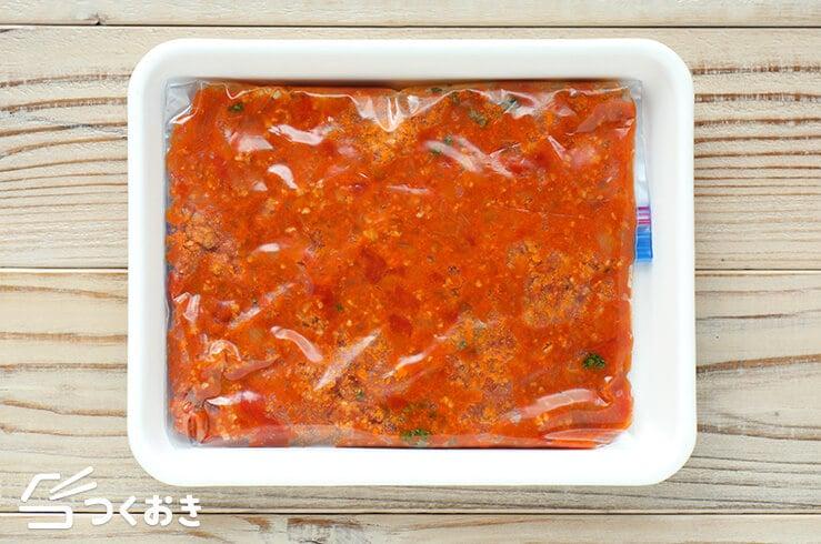 ミートソースの冷凍写真