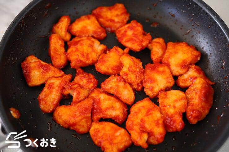 鶏むね肉のピリ辛ケチャップソースの手順写真その3