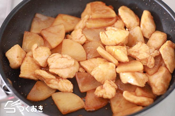 鶏むね肉と大根の黒酢煮の手順写真その3