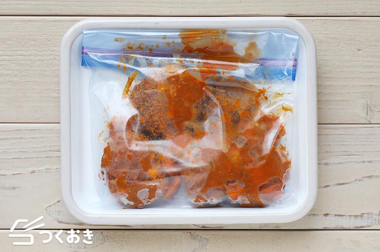 カレー煮込みハンバーグの冷凍写真