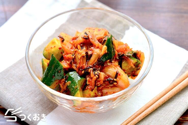 きゅうりのごまキムチ和えの料理写真